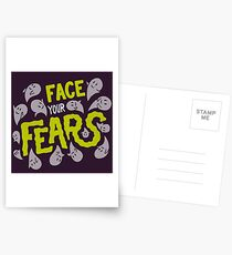 Face your fears Postcards