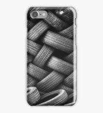 Stacked Tires In a Junkyard  iPhone Case/Skin