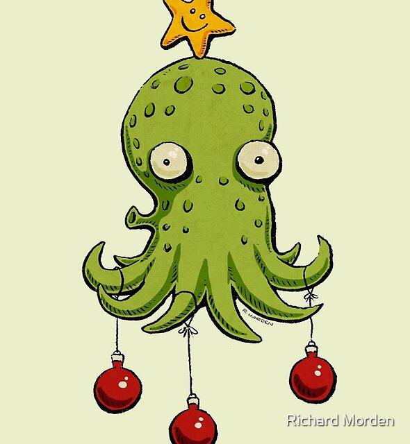 Christmas cephalopod by Richard Morden