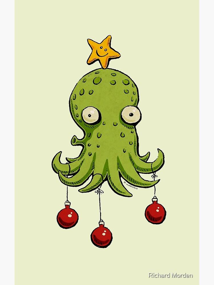 Christmas cephalopod by morden