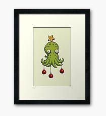 Christmas cephalopod Framed Print