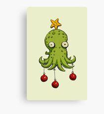 Christmas cephalopod Canvas Print