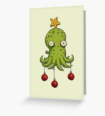 Weihnachten Kopffüßer Grußkarte