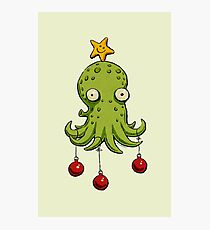 Christmas cephalopod Photographic Print