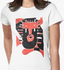 GEOMETRIC #mask abstract shapes Women's Fitted T-Shirt