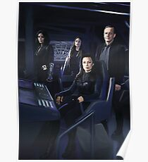 Agents Johnson, Rodriguez, May, Coulson of S.H.I.E.L.D Poster