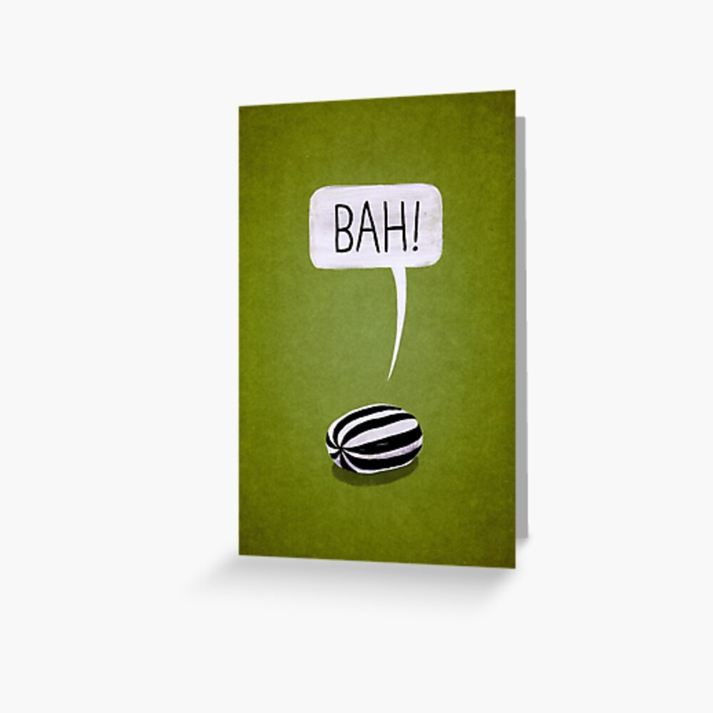 Bah Humbug Greeting Card