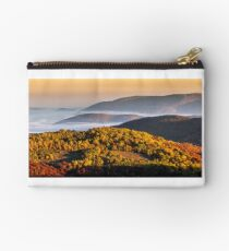 foggy and hot sunrise in Carpathian mountains Studio Pouch