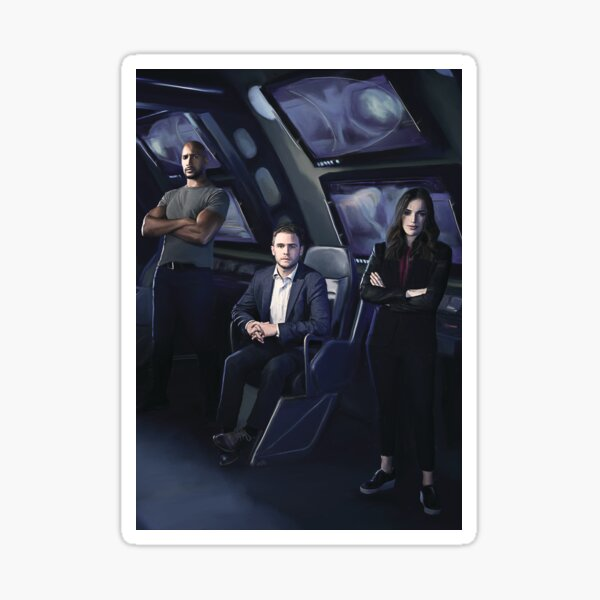 Agents Mackenzie, Fitz, Simmons Sticker