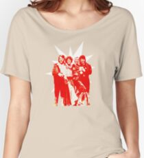 Björn & Benny, Agnetha & Anni-Frid - Red Ink Eurov. 1974 design Women's Relaxed Fit T-Shirt