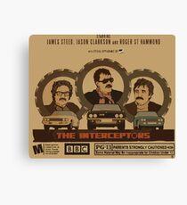 """Top Gear """"The Interceptors"""" Retro Canvas Print"""