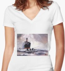 The Boat Women's Fitted V-Neck T-Shirt