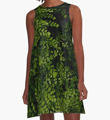 Small leaves.  A-Line Dress