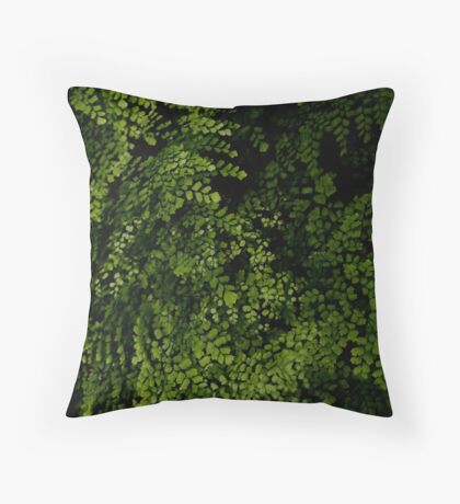Small leaves.  Throw Pillow