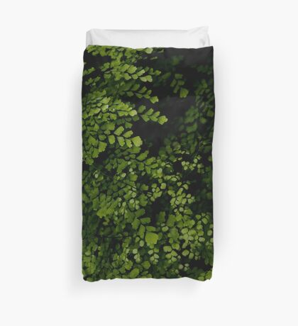 Small leaves.  Duvet Cover