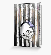 The little birch tree  Greeting Card