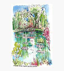 the japanese bridge at monets garden photographic print