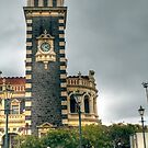 The Clock Tower at Dunedin Railway Station, New Zealand by Elaine Teague