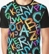 Colorful crayon letters Graphic T-Shirt