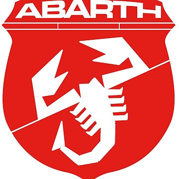 Abarth monochrome logo (red) by JRLdesign