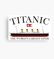 Titanic, 1912, RMS Titanic, Cruise, Ship, Disaster Canvas Print