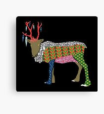 Abstract Reindeer Canvas Print