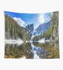 Crystal Mountain Lake Wall Tapestry