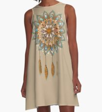 Golden Dreams Dreamcatcher A-Line Dress