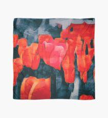 Tulpenfeld in der Nacht Tuch