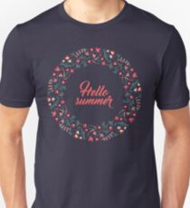 Jacobean floral wreath, 05 - Hello summer Unisex T-Shirt