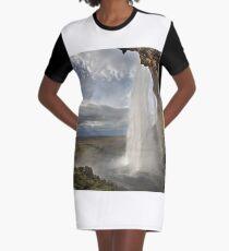 Seljalandsfoss Iceland Graphic T-Shirt Dress