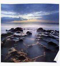 Beautiful sundown over Atlantic Ocean Poster