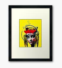 surreal punk girl urban portrait Framed Print