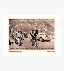 TOUR de FRANCE: Vintage 1952 Fausto Coppi Advertising Print Art Print