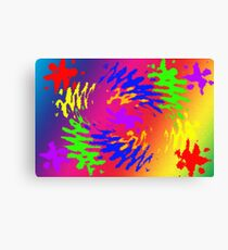 Psychedelic Splodge Canvas Print