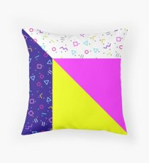 ABSTRACT, Memphis style 03 Throw Pillow