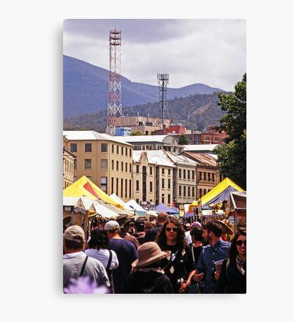 Salamanca Market—Hobart, Tasmania Canvas Print