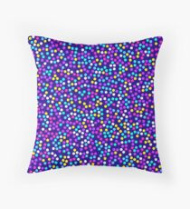 ABSTRACT, Memphis style 05, multicolor confetti Throw Pillow