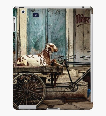 Goat on Wheels iPad Case/Skin