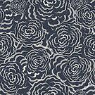Seamless floral sketch pattern by Olga Altunina