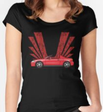 Red Sol Women's Fitted Scoop T-Shirt