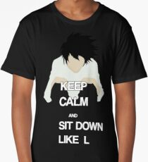 L Death Note t-shirt Long T-Shirt