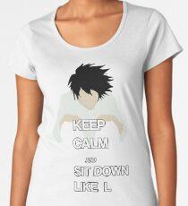L Death Note t-shirt Women's Premium T-Shirt