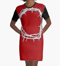 Crown of Thorns / Jesus Christ Art Graphic T-Shirt Dress