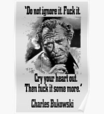 BUKOWSKI quote - FUCK it Poster