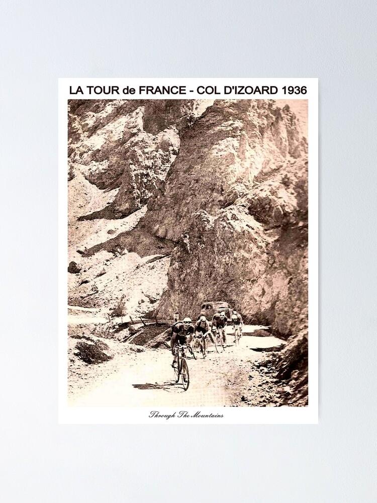Alternate view of TOUR de FRANCE Vintage 1936 Col D Izoard Print Poster