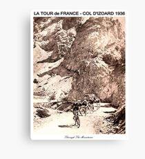 TOUR de FRANCE Vintage 1936 Col D Izoard Print Canvas Print