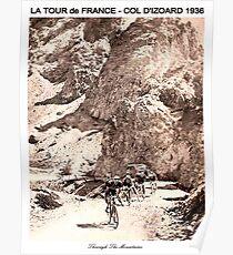 TOUR de FRANCE Vintage 1936 Col D Izoard Print Poster