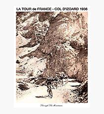 TOUR de FRANCE Vintage 1936 Col D Izoard Print Photographic Print