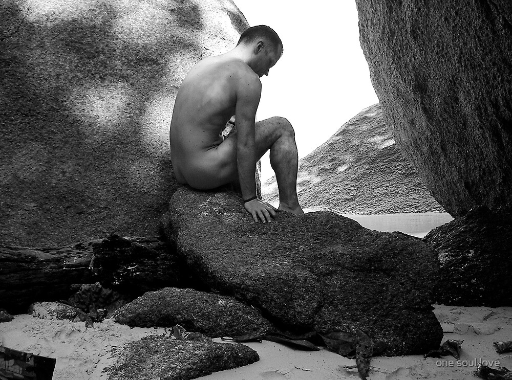 male nude on rocks by chrisdade